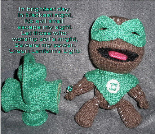 Green Lantern Sackboy Peep for Matt's Birthday