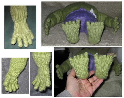 Marvel Comics the Incredible Hulk for Matt's Birthday - hands and feet detail