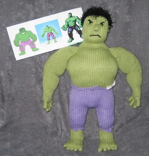 Marvel Comics the Incredible Hulk for Matt's Birthday with reference photos