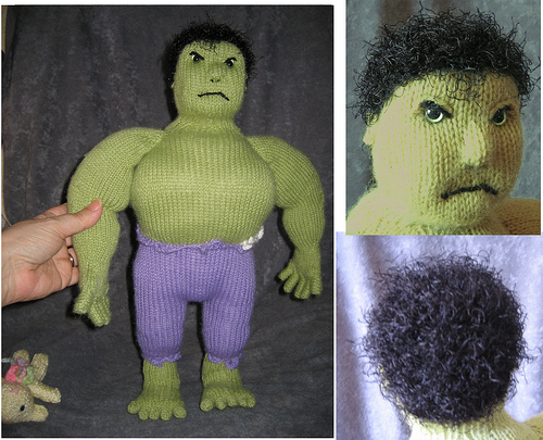 PATTERN: Crochet The Incredible Hulk Amigurumi | Etsy | 405x500