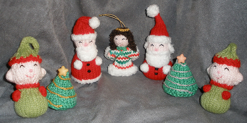 Santas, Angela Mia, Trees & Elves for the kids