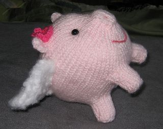 Petunia Phlying Piglet - the flying piggy for Dorothy - Ready for Take Off!